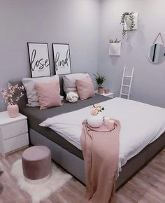 The Secret of Room Goals Bedroom Ideas Simple No One Is Talking About - home. The Secret of Room Goals Bedroom Ideas Simple No One Is Talkin Dream Rooms, Dream Bedroom, Girls Bedroom, Girl Bedroom Designs, Couple Bedroom, Bedroom Décor, Design Bedroom, Simple Bedroom Decor, Home Decor Bedroom
