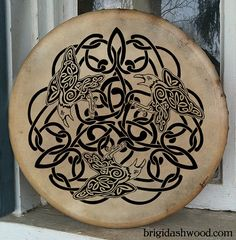 Celtic Raven Bodhran Drum  Hand painted by BrightArrow on Etsy, $250.00