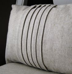 Etsy shoponeeleven Linen Cotton Pleated Pillow - Stylehive