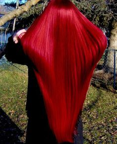 Pre-Colored Remy Human Hair Red Straight - I friggin love this Red hair. I wish my hair looked this healthy. Remy Human Hair, Remy Hair, Colored Wigs, Bright Colored Hair, Bright Hair, Colorful Hair, Vibrant Red Hair, Red Hair Color, Long Hair Styles
