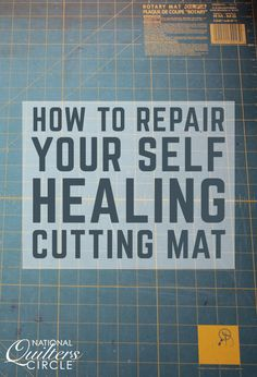 Caring for your self-healing cutting mat is easy. Useful Techniques in Sewing Sewing Hacks, Sewing Crafts, Sewing Tips, Quilt Tutorials, Sewing Tutorials, Pillos, Rm 1, Fat Quarter Projects, Leftover Fabric