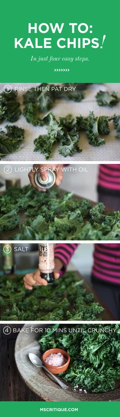How to make crispy, crunchy, Kale chips in just 4 easy steps!