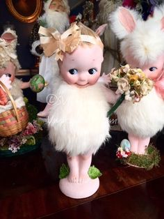 Rose O'neil GERMAN KEWPIE ANTIQUE Rabbit BUNNY COSTUME