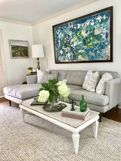 This is a piece I did using acrylic on mirror. Made my living room feel complete !  •Mirror art, •blue and green, •circles, •white living room ideas, pottery barn color simply white
