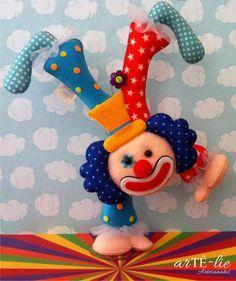 Palhaço Equilibrista! #feltro #felt #palhaço #circo #clown