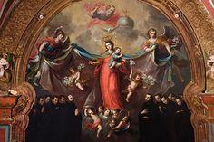 XVIII - CABRERA, Miguel - Patrocinio de la Virgen a la Compañía de Jesús - Arte Novohispano - Museo Nacional del Virreinato, México