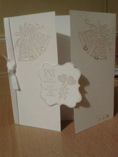 Wedding card using stampin up occasions alphabet