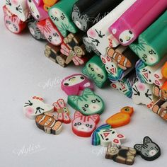animal clay canes
