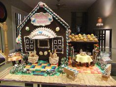 Each year my niece, Sophia and I create a custom-made gingerbread house. This year's theme was a bakery. We worked on this for many, many hours. It was