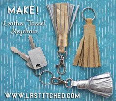 Make a Leather Tassel Keychain | Lrstitched.com