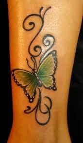 butterfly tattoos on leg
