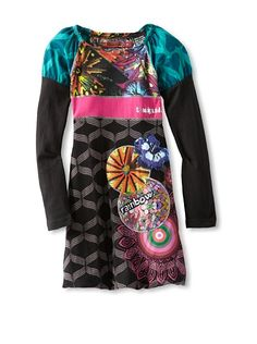 Desigual Girl's Long Sleeve Bubble Dress