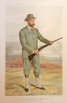 H.R.H. The Prince of Wales. 1910, Shooting, Vanity Fair