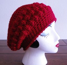 bobble slouch beret-free pattern