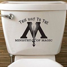 Harry Potter Ministry Of Magic Toilet Vinyl Decal Sticker House Fantastic Beasts    eBay