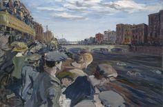 'The Liffey Swim' 1923 Jack B. Yeats National Gallery of Ireland James Joyce, Great Short Stories, Irish Painters, Jack B, Irish Culture, Penguin Classics, Irish Art, Artist Profile, So Little Time