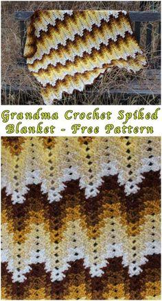 Grandma Crochet Spiked Blanket – Free Pattern – STYLESIDEA