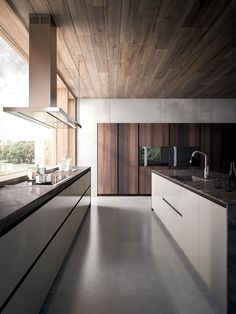 LACQUERED WOOD VENEER KITCHEN VELVET ÉLITE | GD ARREDAMENTI