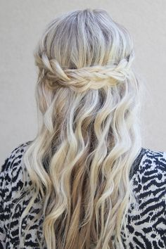 hair half up with braid - Google Search