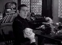 Frollo (Cedric Hardwicke) is a ruthless and vicious man but still he loves cats in The Hunchback of Notre Dame (1939).