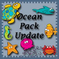 Ocean Pack Update - do-a-dots, beginning sounds, shapes, and more