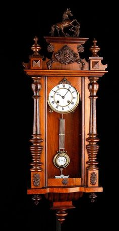 reloj de pared antiguo Grandfather Clock Kits, Vintage Furniture, Furniture Decor, Antique Wall Clocks, Mantle Shelf, Rustic Doors, Woodworking, Bronze, Antiques