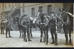 By Christina Bloom. The 1st Life Guards prepare to leave Hyde Park Barracks and head to war, on 15 August 1914. They were destined for the Battle of Mons.