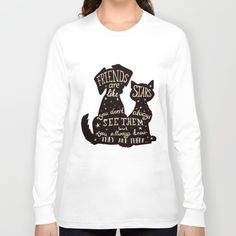 Pets = Real Friends Long Sleeve T-shirt Tri-Blend Long Sleeve T-Shirts are made with 50% Polyester, 25% Cotton and 25% Rayon. Enjoy everything you love about the fit, feel and durability of a vintage T-shirt.