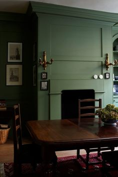 Paint colours calke green farrow & ball butlers pantry in 2019 обшивка Green Dining Room, Living Room Green, Green Rooms, Bedroom Green, New Living Room, Living Room Decor Colors, Living Room Paint, Farrow And Ball Paint, Farrow Ball