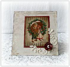 Christmas card handmade   vintage Christmas by CarmenHandCrafts