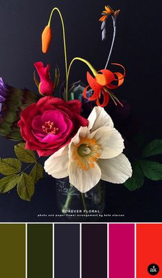 A paper-flower-inspired color palette #RePin by AT Social Media Marketing - Pinterest Marketing Specialists ATSocialMedia.co.uk