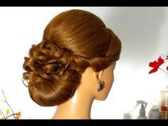 Свадебная, вечерняя прическа для длинных волос. Wedding hairstyle for long hair - YouTube