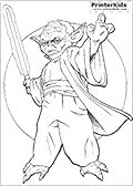 yoda with a lightsabre coloring pages | Colouring on Pinterest | Coloring Pages, Christmas ...