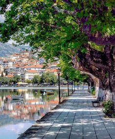 Kastoria, in northern Greece Beautiful Islands, Beautiful World, Beautiful Places, Greek Islands Vacation, Places To Travel, Places To Visit, Greece Pictures, Santorini Greece, Greece Travel