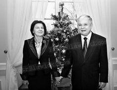 Lech Kaczyński i Maria Kaczyńska. Zdjęcie bożonarodzeniowe #lech #kaczynski