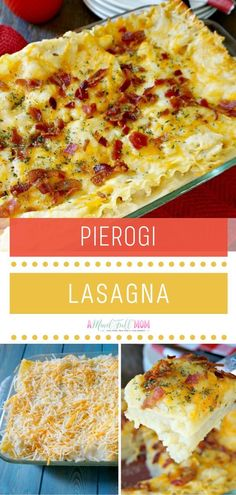 Pierogi Lasagna is a carb lover's dream come true! Mashed potatoes and cheese are layered in between lasagna noodles for a comforting and creamy meal the whole family will love. The perfect recipe to use up leftovers! Pin this dinner menu idea for later! Beef Recipes, Whole Food Recipes, Cooking Recipes, Potato Recipes, Cooking Ideas, Yummy Recipes, Lasagna Noodles, No Noodle Lasagna, Easy Dinner Recipes