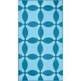 Found it at AllModern - Optic Teal / Turquoise Rug