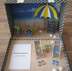 Geschenkkoffer Mallorca Reise Gutschein Geschenkverpackung Strand