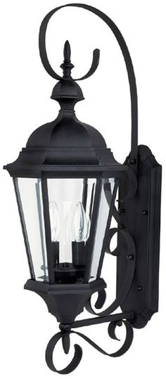 """0-036556>27""""""""h Carriage House 2-Light Outdoor Fixture Black"""