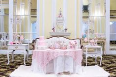 A Marie Antoinette Wedding Inspiration at the Amway Grand Plaza Hotel in Grand Rapids, Michigan Parisian Wedding Theme, Whimsical Wedding Theme, Wedding Reception Decorations, Table Decorations, Plaza Hotel, French Wedding, Girls Dream, Marie Antoinette, Pretty In Pink