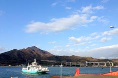 the Ferry I've been commuting on this ferry!! Tourism mood♪  このフェリーで通勤してます♪ 観光気分ww  #japan #ferry #shimanami #blue #scenery
