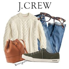 Untitled #1555 by timmypom on Polyvore featuring polyvore, fashion, style, Demylee, J.Crew, jcrew, jeans and sneakers