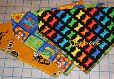 Tutorials: Dog Scarf Tutorial So easy to make.  What a lovely tutorial. Our new puppy looks so cute.