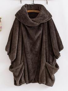 Women Plush Oversize Coats Solid Turtleneck Big Pockets Cloak Coats Vintage plus size winter coat women casaco feminino Jumpers For Women, Coats For Women, Jackets For Women, Clothes For Women, Women's Jackets, Casual Jackets, Oversized Mantel, Oversized Coat, Women's Coats