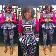 Trending and Stylish ankara trousers and top trend of all times, These ankara trousers are meant to make you look fabulous in your favorite African fabric African Inspired Fashion, African Print Fashion, Africa Fashion, African Attire, African Wear, African Women, African Style, African Print Dresses, African Dress