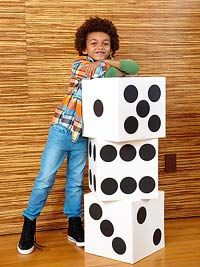 Turn giant dice into a fun and energizing math game! Could be facilitated by teacher as a whole group or by the kids in a math center!