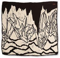 Jan-Henri Booyens silk scarf, via Wolf Eyebrows Textures Patterns, Print Patterns, Pattern Print, Icon Design, Design Art, South African Artists, Textiles, Geometric Art, Repeating Patterns