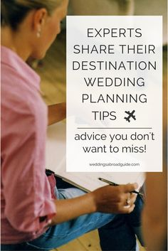 Get insider information from experts in the destination wedding industry plus top tips from couples married abroad. Destination wedding panning checklists, resources