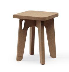 Sit'abit jr cork (Paulo Costa, 2015): a stool made of three cork pieces.