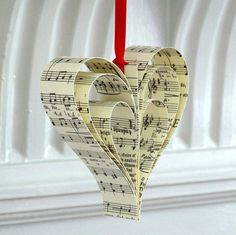 Are you interested in our Handmade Sheet Music Christmas Decoration? With our handmade paper christmas decoration you need look no further. Homemade Christmas Decorations, Diy Christmas Ornaments, Handmade Christmas, Vintage Christmas, Christmas Trimmings, Valentine Decorations, Christmas Cookies, Christmas Projects, Holiday Crafts